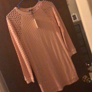 Stylish pink dress